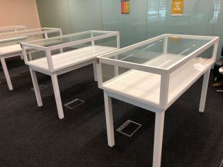 Four Glass Cabinets